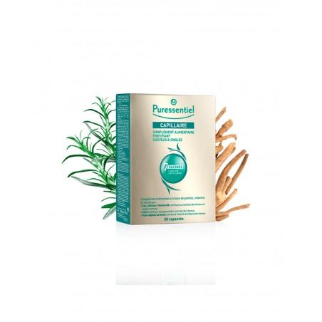 Complemento alimenticio para el cabello y uñas de Puressentiel 30 capsulas