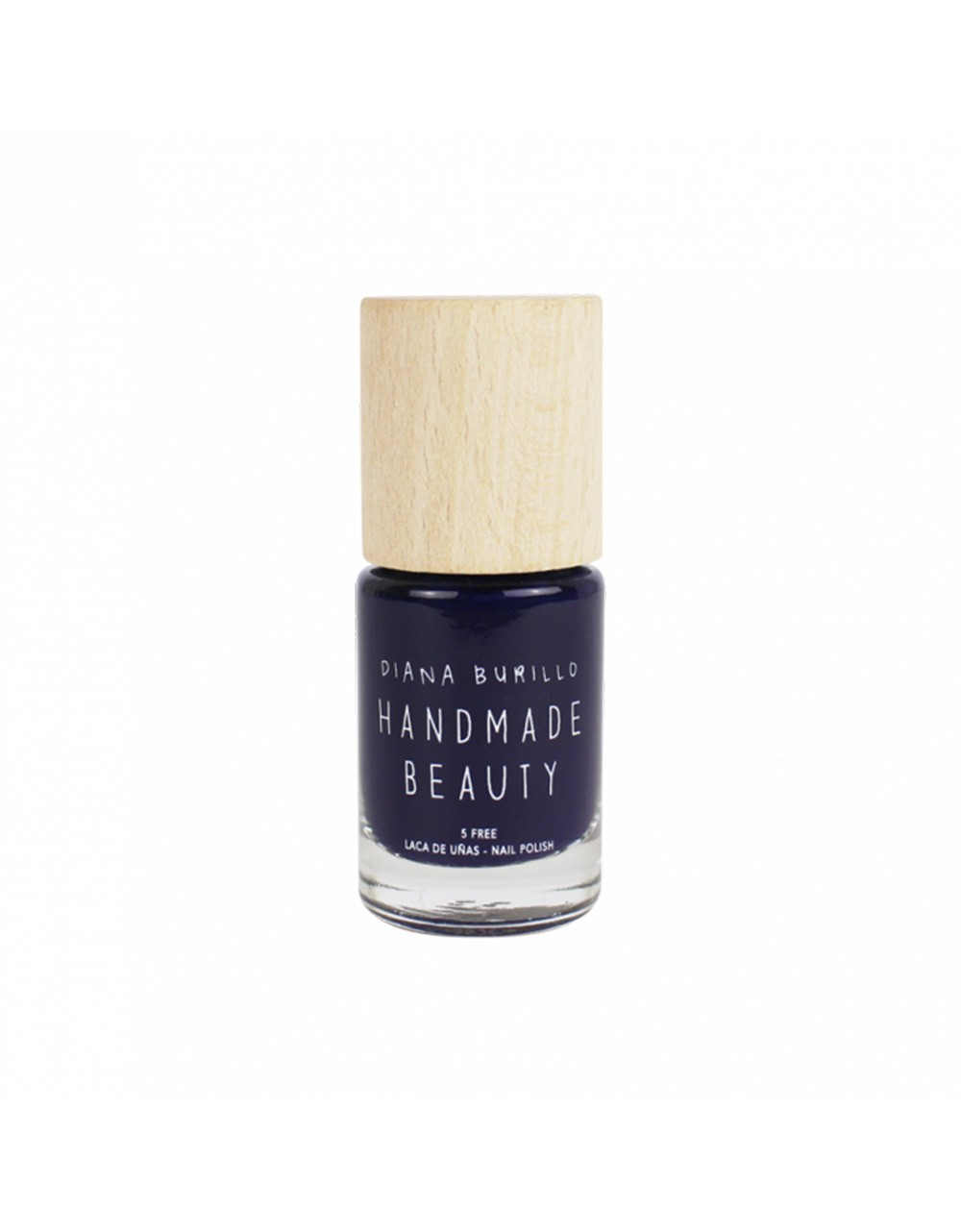 Esmalte de uñas Handmade Beauty 5 free, ecológico color azul marino, profundo e intenso como el mar Grape