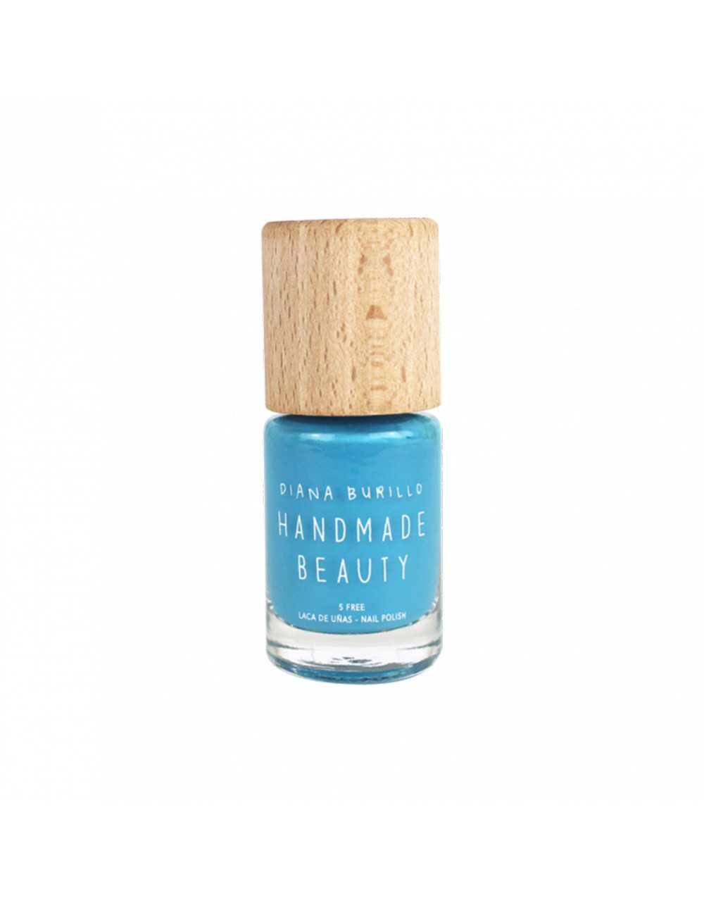 Esmalte de uñas Handmade Beauty 5 free, ecológico color azul celeste reconfortante Blueberry