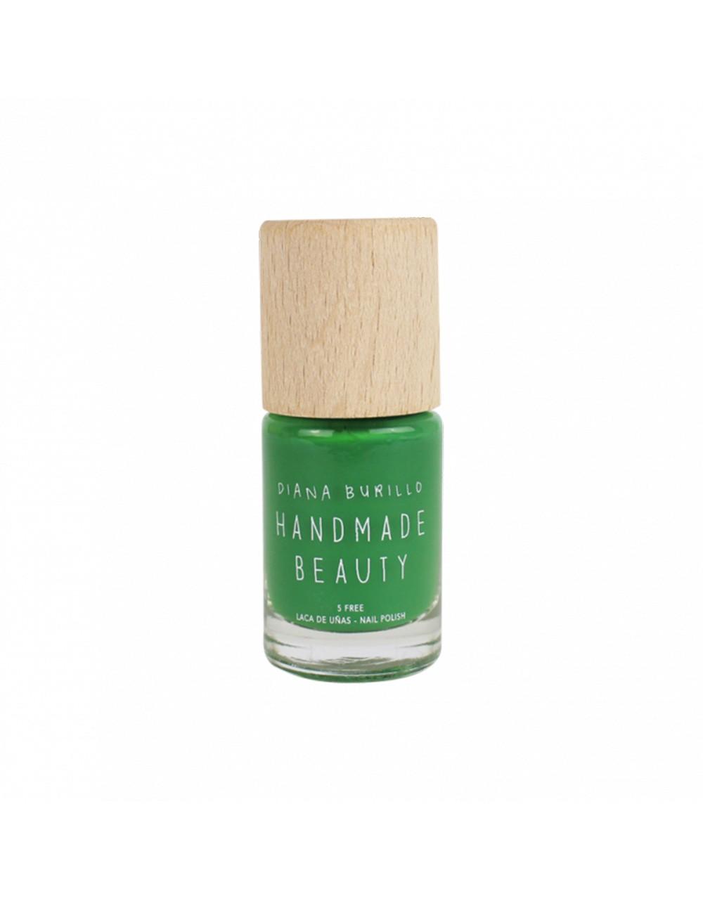 Esmalte de uñas Handmade Beauty 5 free, ecológico tono original y único color verde aguacate perfecto para la primavera Avocado