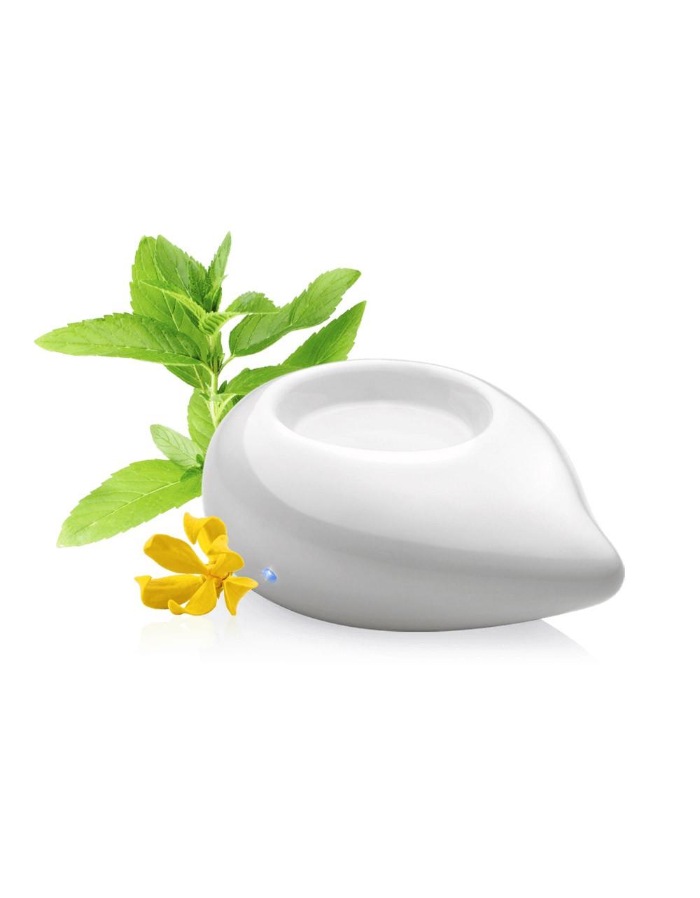 Difusor de aceites esenciales de calor moderado color blanco para aromaterapia